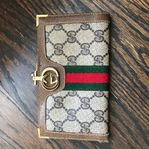 100% Authentic Vintage Gucci Clutch Coin Purse